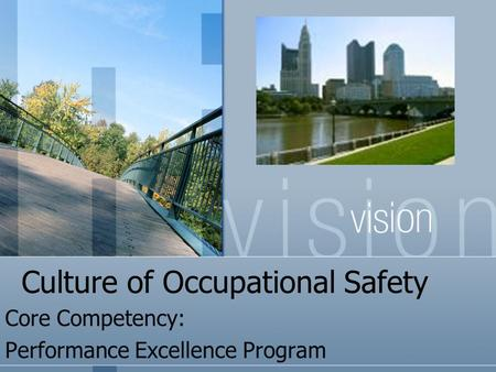 Culture of Occupational Safety Core Competency: Performance Excellence Program.