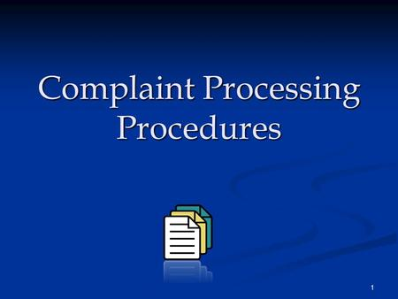 1 Complaint Processing Procedures. 2 Laws Applicable to USDOL Financial Assistance Recipients  Title VI of the Civil Rights Act of 1964, as amended 