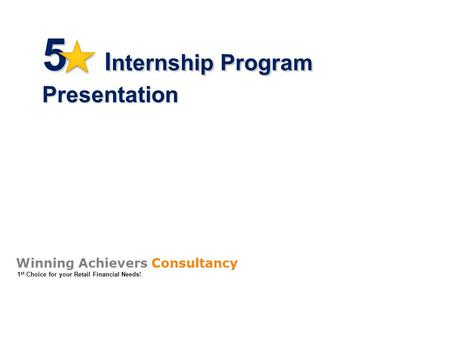 5 Internship Program Presentation