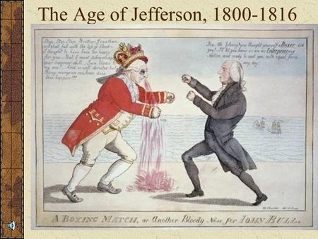 The Age of Jefferson, 1800-1816. The Capitol Building c.1800.