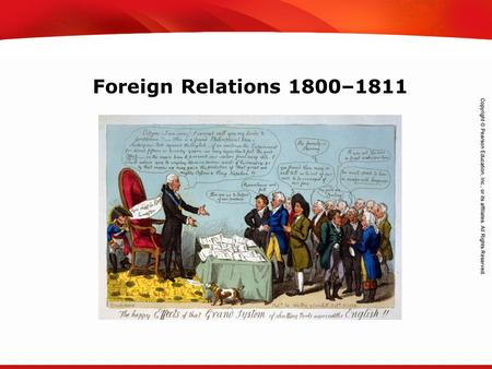 TEKS 8C: Calculate percent composition and empirical and molecular formulas. Foreign Relations 1800–1811.