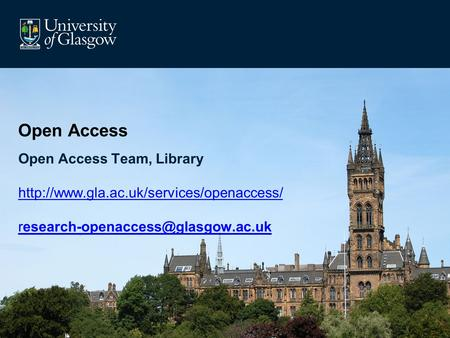 Open Access Open Access Team, Library