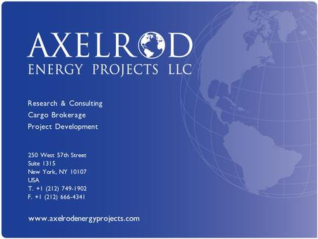 Axelrod Energy Projects LLC www.axelrodenergyprojects.com 1.