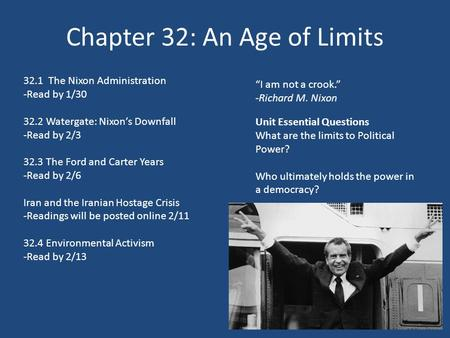 Chapter 32: An Age of Limits