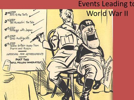 the culminating events that led to world war ii Non-fiction: wwii introduction to world war ii the text describes the series of events that led to the outb reak of world war ii and the involvement of the united states in world wa r ii what happ ened after the united states was a ttacked by japan.
