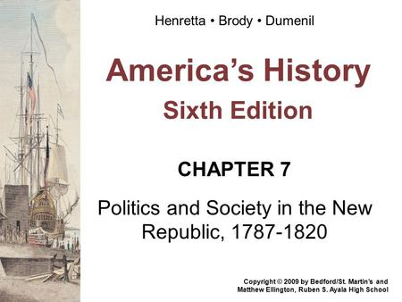 America's History Sixth Edition