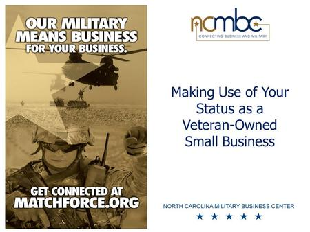 Making Use of Your Status as a Veteran-Owned Small Business.