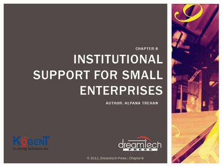 Institutional Support for Small Enterprises