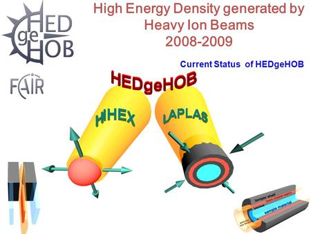 High Energy Density generated by Heavy Ion Beams 2008-2009 Current Status of HEDgeHOB.