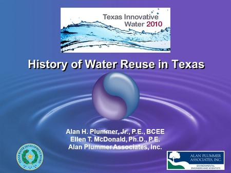History of Water Reuse in Texas