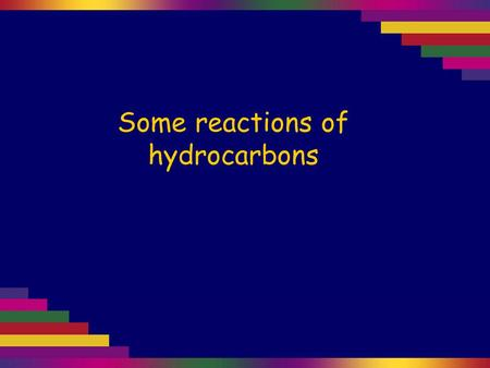 Some reactions of hydrocarbons. The hydrocarbon layer floats on top of the aqueous bromine solution. Aqueous bromine is put in a test tube, then cyclohexane.