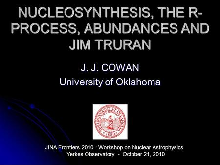 nucleosynthesis r-process Nucleosynthesis: the process of creation of the elements abundances of  r- process (rapid): addition of neutron at a rapid rate so as to.