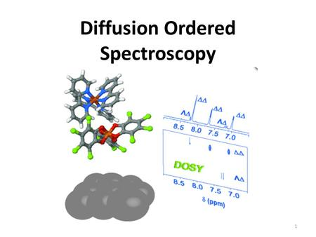 Diffusion Ordered Spectroscopy 1. Provides a way to separate different compounds in a mixture based on the differing translational diffusion coefficients.