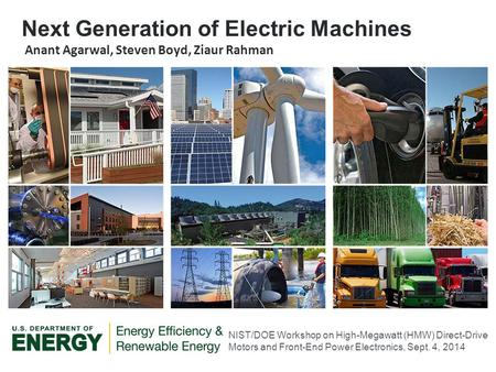 Next Generation of Electric Machines