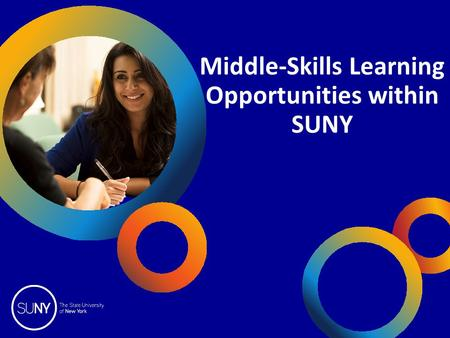 Middle-Skills Learning Opportunities within SUNY