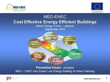 Florentine Visser - Key Expert Low Energy Building & Urban Planning www.med-enec.eu 1 This project is funded by the European Union Florentine Visser -