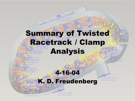 Summary of Twisted Racetrack / Clamp Analysis 4-16-04 K. D. Freudenberg.