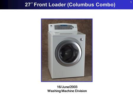 Washing Machine Division