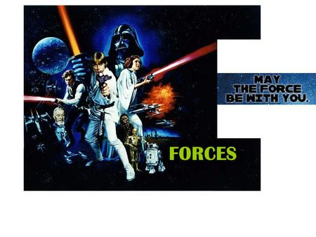 FORCES. FORCE: The cause of motion The cause is either a –Push or a –Pull.