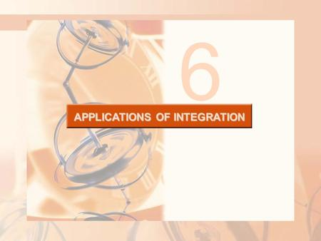 APPLICATIONS OF INTEGRATION 6. 6.2 Volumes APPLICATIONS OF INTEGRATION In this section, we will learn about: Using integration to find out the volume.