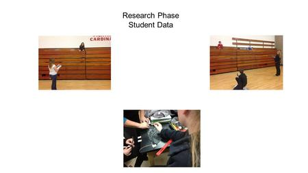 Research Phase Student Data. Students created different shaped parachutes with the same area of 675 cm². Students used 4 strings that were 30 cm long.