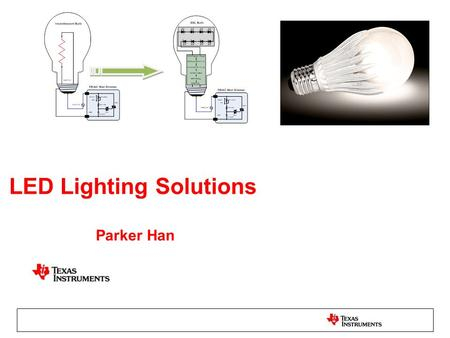 LED Lighting Solutions Parker Han. LPP is Focused on Three Primary Markets and Multiple Secondary Markets Architectural –Wall washer, –Spot light, etc.