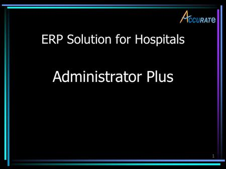 ERP Solution for Hospitals