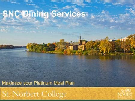Title of presentation goes here Subtitle text goes here SNC Dining Services Maximize your Platinum Meal Plan.