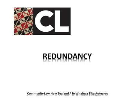 What is redundancy? What is the proper process for redundancy?