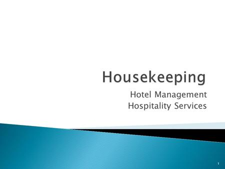 Hotel Management Hospitality Services