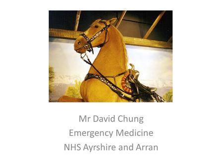 Mr David Chung Emergency Medicine NHS Ayrshire and Arran.
