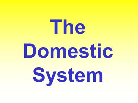 The Domestic System.