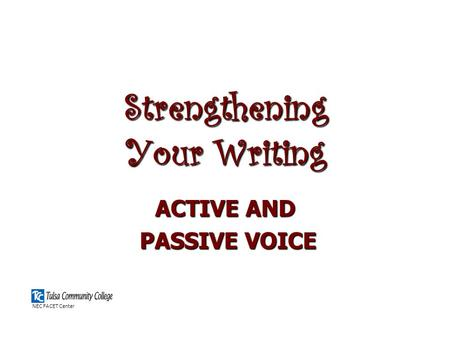 Strengthening Your Writing