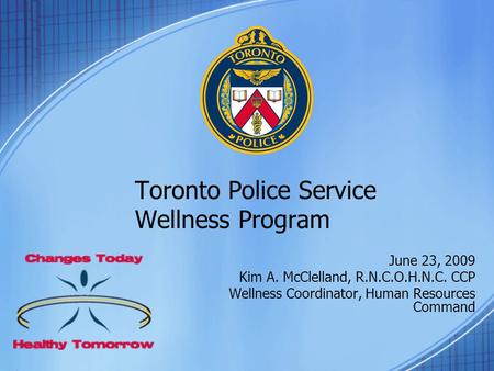 Toronto Police Service Wellness Program