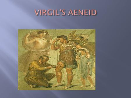 The Aeneid is the tale of the hero Aeneas who, after the destruction of his city, Troy, by soldiers from Greece, obeyed the commands of his gods to sail.