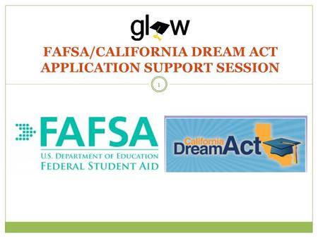FAFSA/CALIFORNIA DREAM ACT APPLICATION SUPPORT SESSION 1.