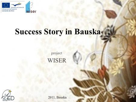 Success Story in Bauska project WISER 2011, Bauska.