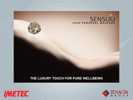 THE LUXURY TOUCH FOR PURE WELLBEING. Bergamo, March 2010 confidential - 2 PILLOW MASSAGER.