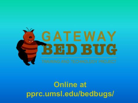 Online at pprc.umsl.edu/bedbugs/. BED BUGS  HOW MANY OF YOU HAVE SEEN A LIVE BED BUG?  HOW MANY OF YOU HAVE EXPERIENCED A BED BUG INFESTATION?  HOW.