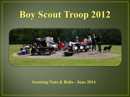 Boy Scout Troop 2012 Scouting Nuts & Bolts - June 2014.