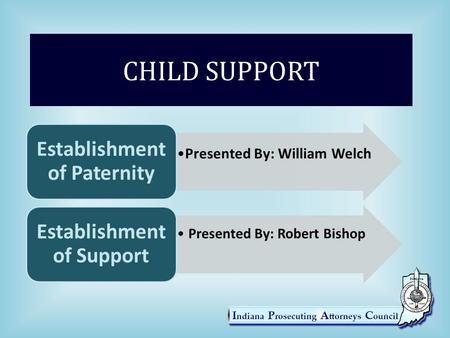 Establishment of Paternity Establishment of Support