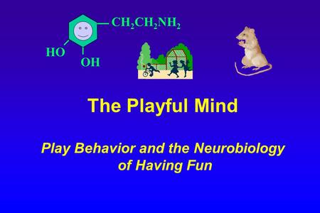 CH 2 CH 2 NH 2 OH HO The Playful Mind Play Behavior and the Neurobiology of Having Fun.