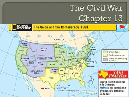 The Civil War Chapter 15 Cornell Notes.