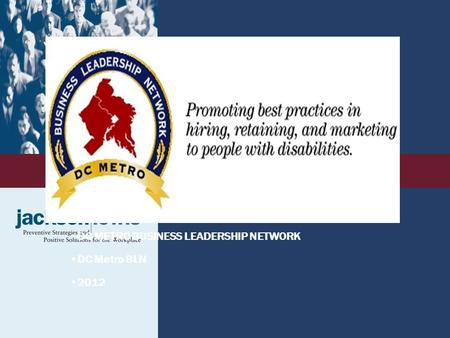 LOGO DC METRO BUSINESS LEADERSHIP NETWORK DC Metro BLN 2012.