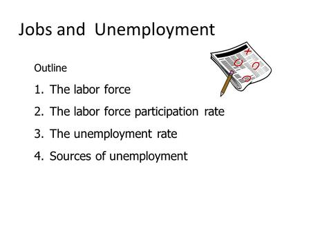 Jobs and Unemployment The labor force