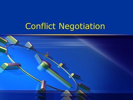 Conflict Negotiation. Conflict  Expressed difference between two or more people.