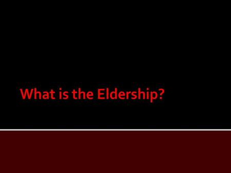  In this lesson, we shall study what the Bible says regarding elders/presbyters, bishops/overseers, and pastors/shepherds.  When considering this office,