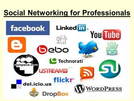 "Social Networking for Professionals. Reality Check Answer the following questions How many of us use Facebook? How many ""friends"" do you have? How many."
