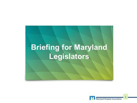 Briefing for Maryland Legislators 1. 2 New Maryland Waiver Five year demonstration program State of Maryland and CMS signed agreement in January 2014.