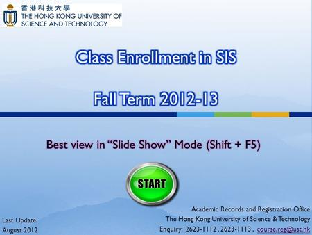 Class Enrollment in SIS Fall Term